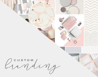 Custom Business Branding // Branding Board // Logo Design // Brand Design //