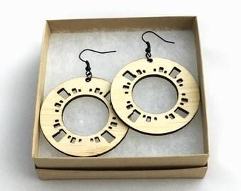 Geometric Wood earrings | Ecofriendly Unique Gift | Katie earrings |