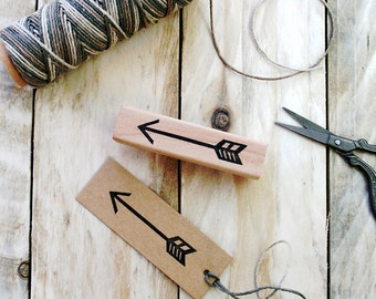 Arrow Stamp - Chevron - Arrow - Valentines - Hand Carved - Arrow Gift Tag - Arrow Gift Wrap - Rubber Stamp by The Little Stamp Store