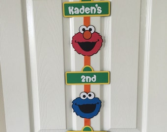 Personalized Sesame Street Birthday Sign