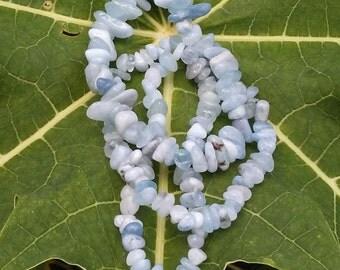 Set of 3 Amazonite Gemstone nugget bracelets with elastic cord