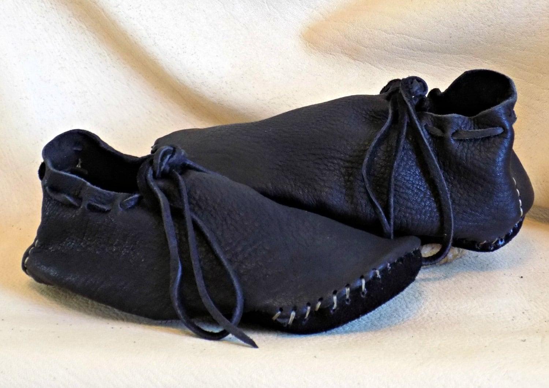 Handmade Leather Viking Shoes Custom Hand Sewn To Order