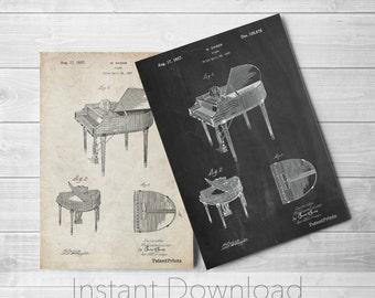 Piano Printables, Music Room Decor, Piano Art, Musician Gifts,  PP0252