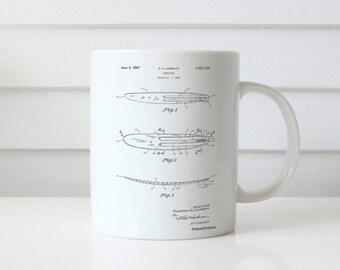Surfboard 1965 Patent Mug, Surf Mug, Surfer, Beach House Decor, Summer Mug, Beach Decor, PP1073
