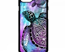 Sea turtle tortoise shell aztec tribal tie dye colourful pattern print graphic animal cover for iphone 4 4s 5 5s 5c 6 6 plus SE phone case