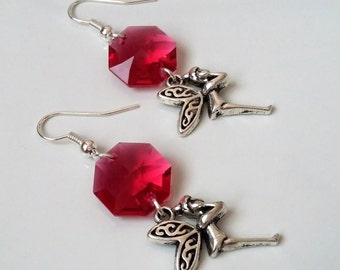 Romantic earrings with Wilma glass