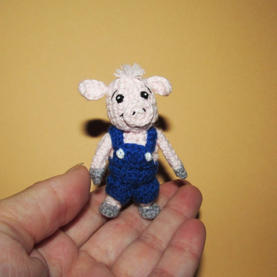 Cute Amigurumi Pigs : Crochet Pig Amigurumi cute Animated Pig boy stuffed animal