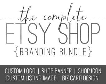 Logo Design Package - Custom Logo - Etsy Shop - Shop Branding - Etsy Banner Set - Shop Banner - Shop Logo - Store Logo