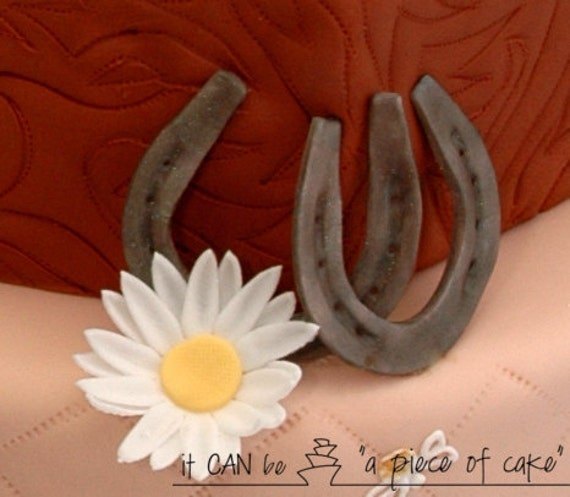Cake Decorating Horseshoes : edible horse shoe cake decorations cupcake toppers fondant