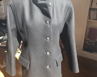 Balenciaga new edition wool black coat