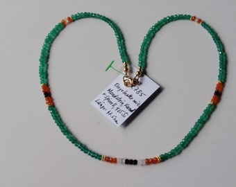 Onyx Necklace, green  JK785