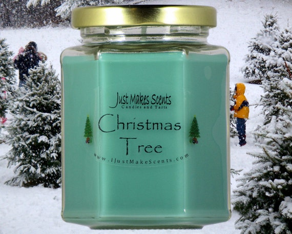 christmas tree candle blended soy candles holiday scent