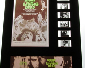 Night of the Living Dead Zombie 1968 George A Romero Frame Ready Matted Movie 35mm Film Cells Standard Series 8x10 Display