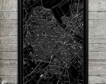 Map of WACO Print, Wall Decor for your Home or Office