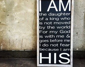 I AM HIS sign