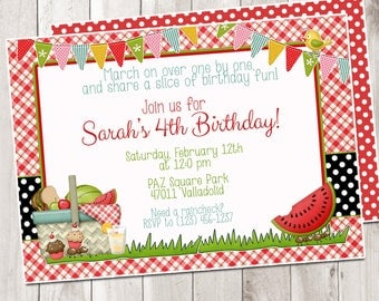 Picnic Birthday Invitation