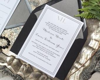 Madison Suite -Wedding Invitation Suite, Modern Wedding Invites, Formal Invitation Set, Simple invitations, Classic wedding invitations