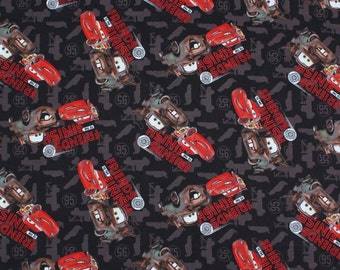 Lightening McQueen Cars fabric Friends to the Finish Disney Pixar - Springs Creative