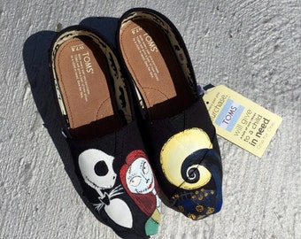 Custom Toms Inspired By The Nightmare Before Christmas