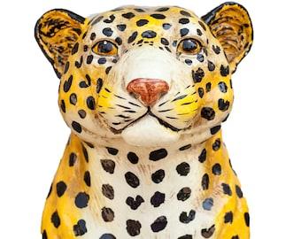 Mid-Century Ceramic Leopard