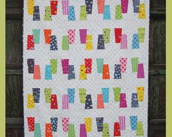 "Bip Bop pattern by Abbey Lane Quilts, measures 62"" x 72"""
