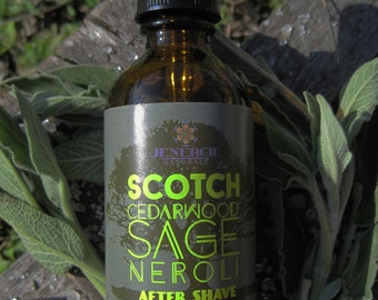 Aftershave Lotion /// Scotch Cedarwood Sage Neroli /// Organic Skincare for Men