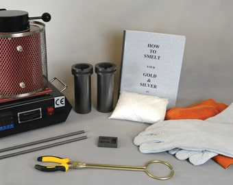 1, 2 or 3 KG BASIC Gold Silver Smelting Kit w/ Electric Melting Furnace and all of the Essentials You Need to Start Melting/Refining Today!