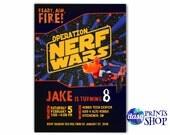 Nerf Birthday Invitation - Printable Nerf War Birthday Invite - Nerf Wars - Nerf Party