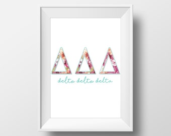 Tri Delta / Printable Dorm Decor / Wall Art