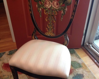 Vintage Italian hand painted chair