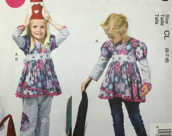 McCalls 6639 Uncut Sewing Pattern Girls Top and Pants in Size 6, 7 and 8