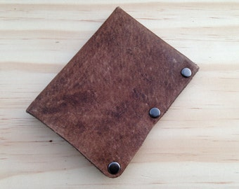 Manhattan Minimal Riveted Leather Wallet