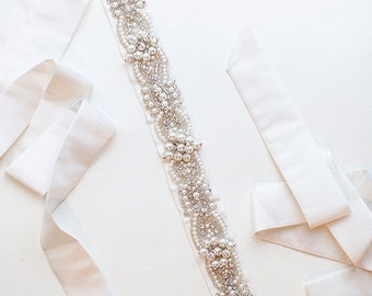 Extra Long Bridesmaid Wedding Bridal Rich Tafetta Sash ( Belt ) - 100% natural silk