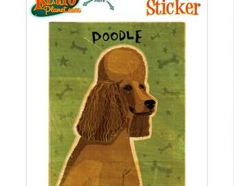 Poodle Brown Dog Vinyl Sticker - #63684