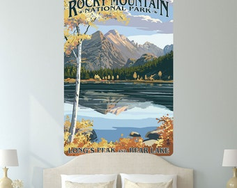 Rocky Mtn Park Longs Peak Bear Lake Wall Decal - #60911