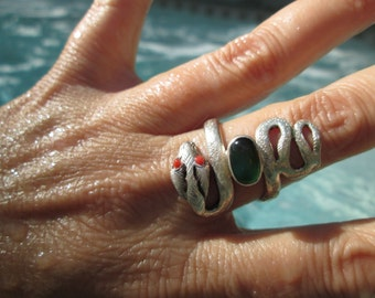 Sterling Silver Snake Ring Size 8.5