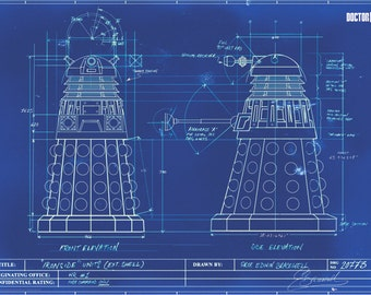 Doctor Who - Blue Print - Poster