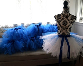 9 Adult Tutus - Bachelorette Tutu Pack -  Running Tutus - Royal Blue