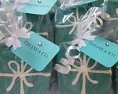 Tiffany box inspired party wedding edible favors