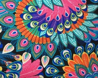 Colorful Peacock Head & Neck Gaiter