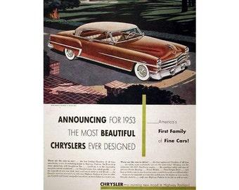 vintage advertisement poster for a 1953 Chrysler - 15