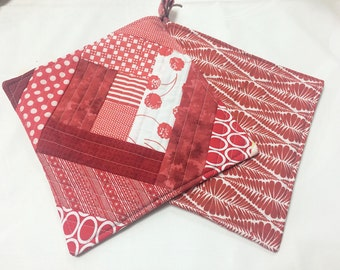 Red Potholders - set of 2
