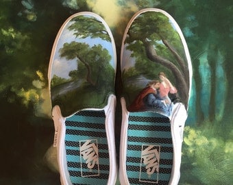 Hand Painted Shoes, Toile Shoes, Painted Vans