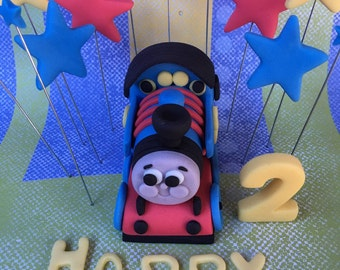 Thomas train & stars fondant toppers