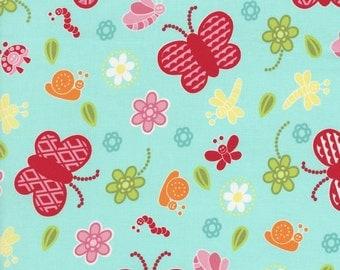 RJR Fabrics Bugsy 2628 03 Butterfly Blue Yardage by Rachael Wright