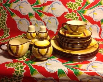 Vintage Vernonware Organdie dinnerware set