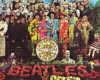 The Beatles Sgt. Pepper Jigsaw Puzzle 8 x 10 inch 100 Pieces NEW