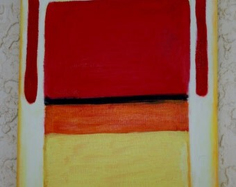 "Small Abstract Oil Painting Mark Rothko Inspired 8"" x 10"""
