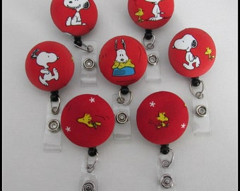Snoopy badge reel for work or school to have fun wearing your ID!