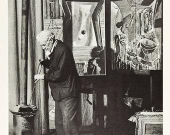 BRASSAI/MANRAY - portrait of Georges Braque - vintage offset lithograph - c1964 (Maeght/DLM, Paris)